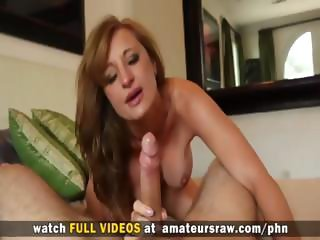 Amateur MILF gets a long boner to suck and fuck and cums a lot