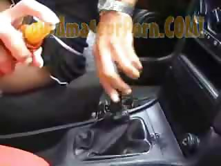 German Wife On Gear Shift  Wet Fuck