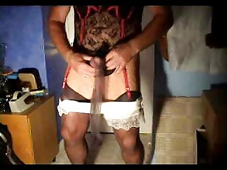 wanking in my nylon slip