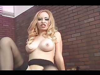 Sexy Lady aiden starr Stocking tease pussy play