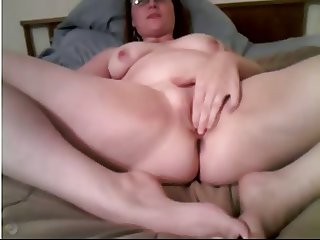 Chubby Hottie's Intense Orgasm