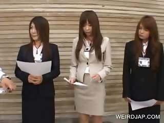 Japanese hotties attending a meeting