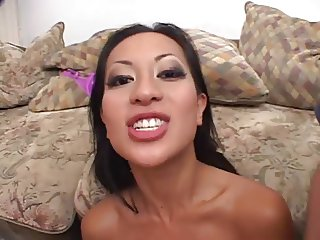 Asian bitch loves to taste different loads of sperm