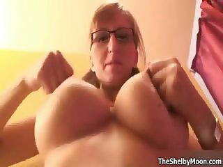 Nerdy girl with glasses has a hot pair part6