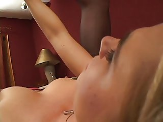 Chubby mature blonde get her pussy fingered by sexy slut