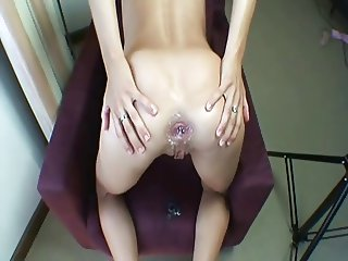 smooth anal stretching gaping creampie