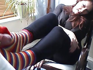 Sexy Claire does footjob