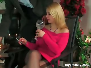 Hot blonde with big breasts fucks part3