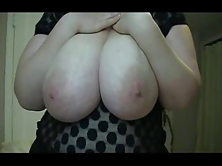 BBW Heather - Lotioning Her Breasts