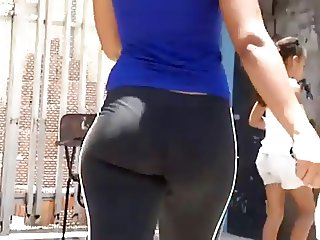 Candid sexy ass in cotton pants