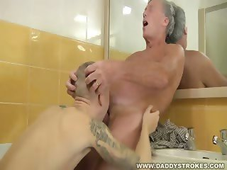 Boy Caught Jerking Off By Daddy