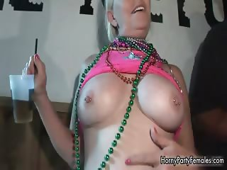 Horny mature blonde woman sharing her part5