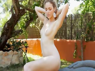 Madonna wet chick babe playing in garden
