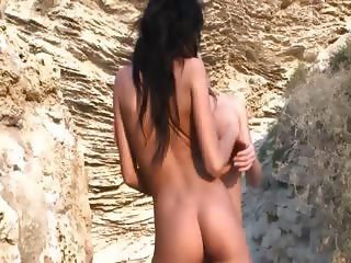 extremely hot babes naked on the beach