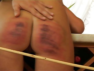 HC8 Caned Wife  Hard Caning Crying
