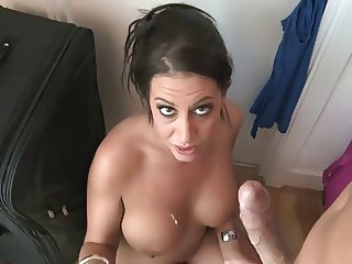 British slut Emma Butt talks dirty and gets fucked