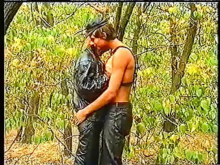 The Leather Boys in forest