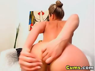 Horny Blonde Strips and Masturbate HD