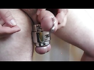 Transscrotal piercing