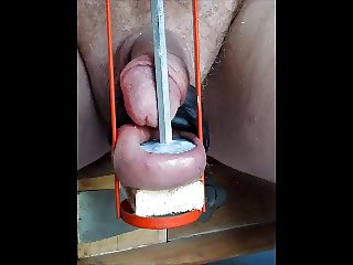 using my cock balls 3 of 4 balls cbt