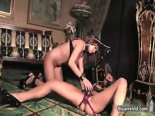 Two hot black leather horny nasty sexy part4
