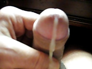 66 yr old Grandpa strokes his penis to make it cum #35