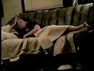 full video of girl playing on the couch