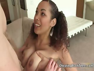 Sexy ebony whore gets horny sucking part5