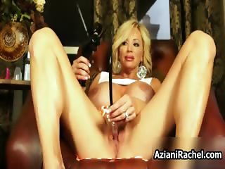 Horny blonde milf beauty with big tits part2