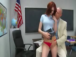 redhead sex on the table
