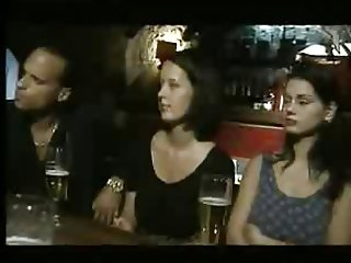 Italian Babes fucked in a Bar
