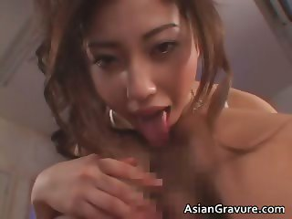 Beautiful asian girl gets covered part2