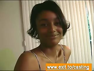 Casting sex interview with cute Black Teen