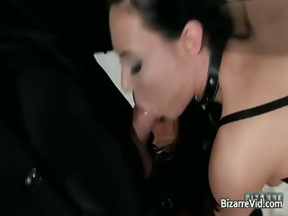 Hot black leather nasty sexy body babe part5