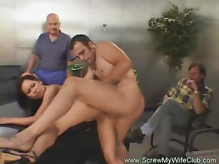 Swinger Hotwife Fucks While Hubby Watches