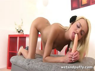 Lena Love is wet and puffy