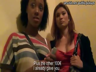 Two real girlfriends Noemilk and Myuiki threesome for money