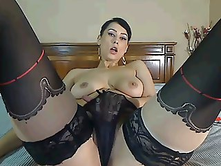 Chaturbate Cam Girl Plays with Tits and Pussy