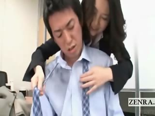 Subtitled Japanese insurance milf office escort service