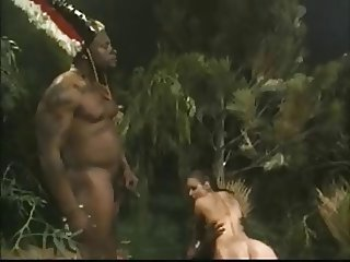 Busty Brunette Gets Fucked By Jungle BBC Monsters