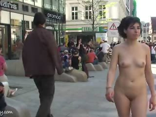 Naked Chick Miriam Has Fun On Public Streets