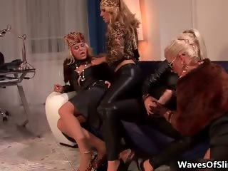 Nasty blonde sluts go crazy sucking part6