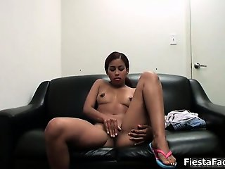 Cute ebony babe goes crazy part6