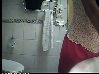 Hidden cam bathroom