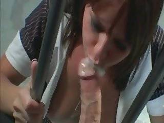 Sexy lawyer pleasing a client