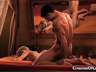 Lust couple having a sensual sex massage part4
