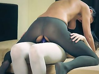 Amazing neat lesbians in pantyhose