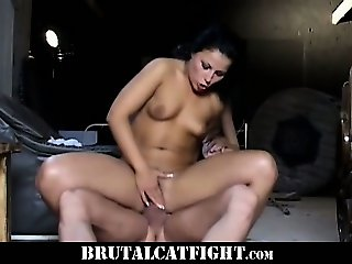 Lazy cleaning lady gets spanked by her patroness