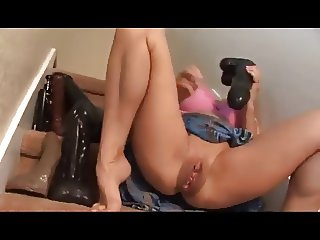 She Has A Variety Of Dildos For Her Big Cunt