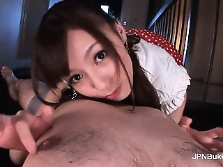 Asian babe gets her pussy licked part1